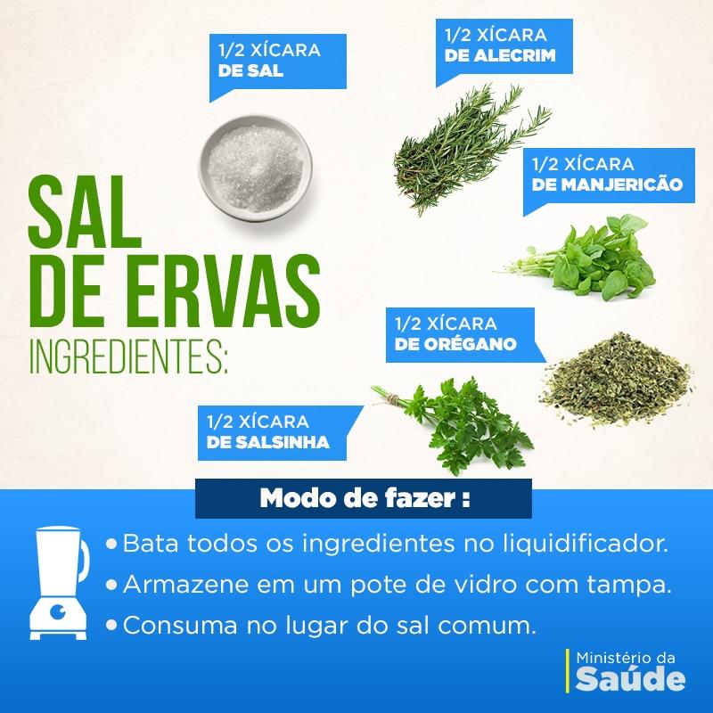 sal de ervas min saude Aprenda a preparar um saboroso e saudável Sal de Ervas