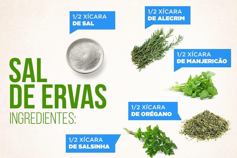 Aprenda a preparar um saboroso e saudável Sal de Ervas