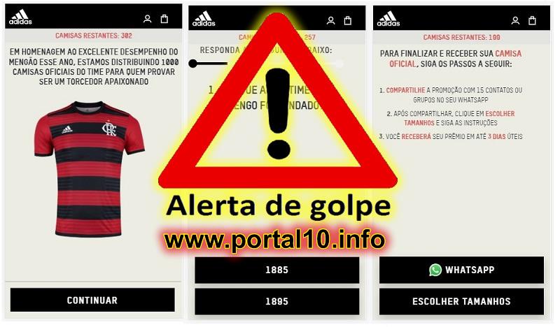1000 Camisas Oficiais do Flamengo pelo WhatsApp é GOLPE