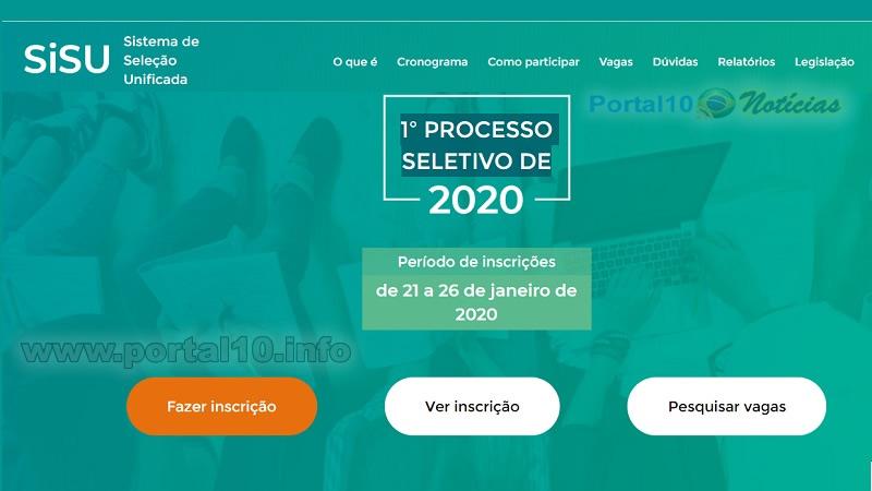 Cadastro no SISU 2020 – Inscrições e dicas para a 1ª fase