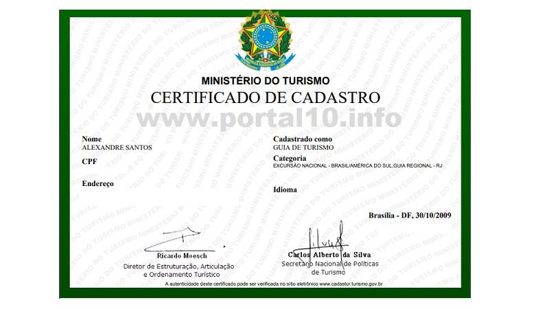 certificado de guia 1 Ganhe dinheiro: Renda extra com Turismo e Excursões GRÁTIS