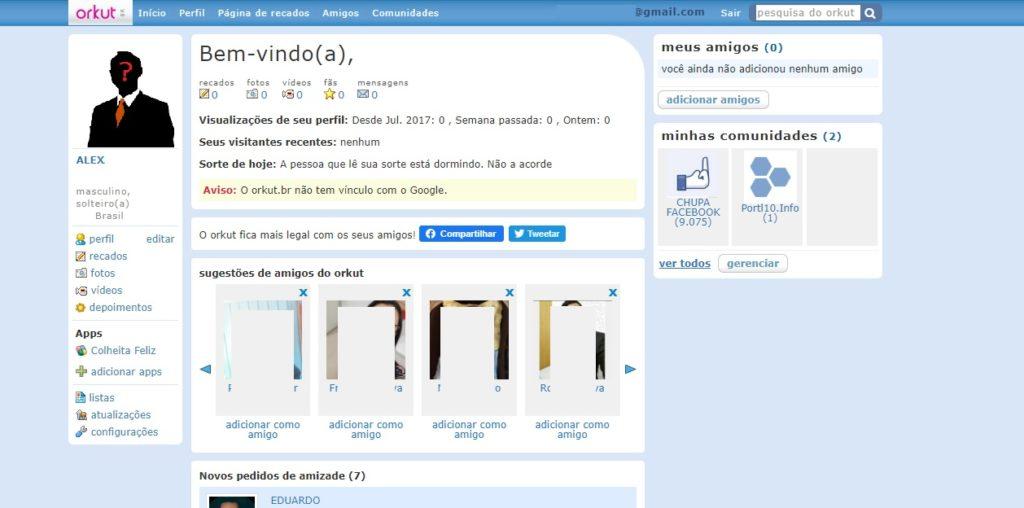 Perfil: Similaridades do Orkut.com e Orkut br
