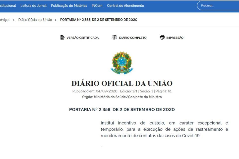 A verdade sobre a Portaria que destina R$6.000, por profissional da saúde