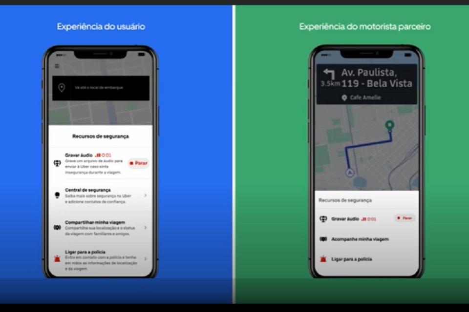 Usuários do Uber poderão ter suas viagens gravadas