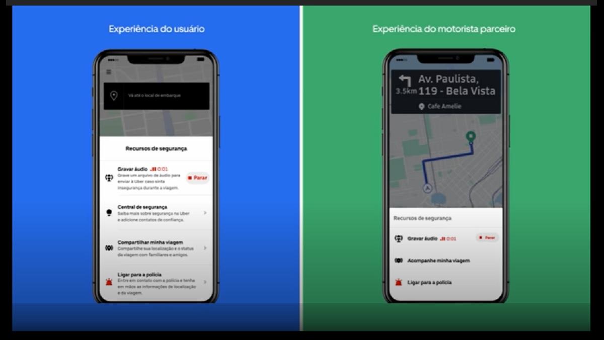 U audio uber Usuários do Uber poderão ter suas viagens gravadas