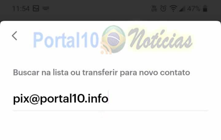 chave pix portal10 Como enviar um Pix para o Portal10
