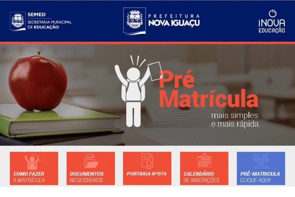 pre matricula nova iguacu geral Pré-Matrícula 2021 online para alunos de Nova Iguaçu - RJ